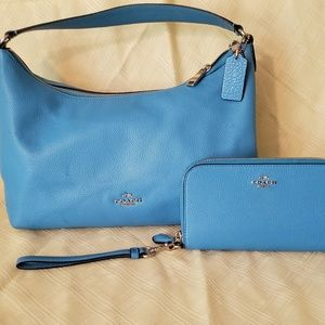 Coach handbag and wristlet wallet
